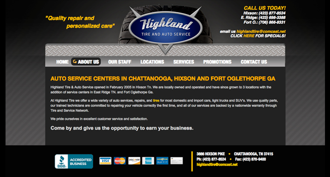 chattanooga web design highlandtire4