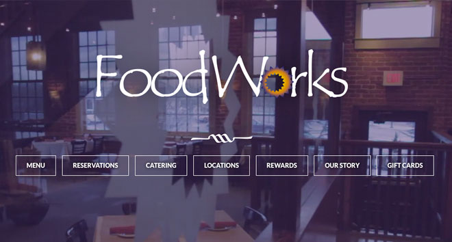 Foodworksweb design chattanooga